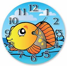 "10.5"" CUTE GOLD FISH KIDS CLOCK - Large 10.5"" Wall Clock - Home Decor Clock 3323"