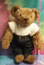 "15"" Vermont Teddy Bear ""Loverboy"" W/ LOVE Heart Shaped Tattoo & Original Clothes"