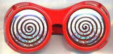 Red X-Ray Hypnotizing Sunglasses with Swirl Lens
