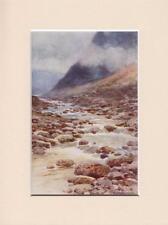 """Tavy CLEAVE, Dartmoor, Devon vintage anni 1920 8"""" x 6"""" stampa montata da haslehust"""