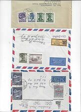 AUSTRIA 1950 60's COLLECTION OF 20 AIR MAIL COVERS SOME REGISTERED FRANKED DIFF