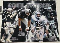 Jack Tatum Skip Thomas Will Brown Signed Raiders Soul Patrol 16x20 Photo BAS COA