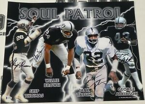 Jack Tatum Skip Thomas Will Brown Signed Raiders Soul Patrol 16x20 Photo BAS COA