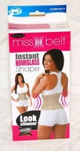 Miss Belt Instant Hour Glass Figure Shape Beige Size S/M