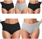 Womens Underwear,Mid Waist No Muffin Top Full Coverage Cotton Brief Ladies Panti