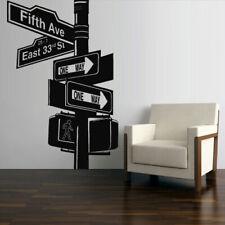 Wall Decal Sticker Decor Art Bedroom Road Sign New York Broadway (Z2749)