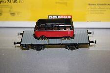 Brawa 47703 2-Achser Flachwagen Xf 08 DB mit VW Bus Spur H0 OVP