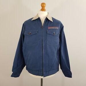 Vintage Men's Lee Riders Blue Zip Up Corded Worker Jacket Size M Brand New
