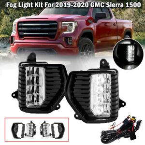 For 2019-2020 GMC Sierra 1500 Denali New Gen. LED Bumer Fog Lights Lamp w/Switch
