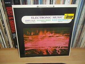 ELECTRONIC MUSIC John Cage, Berio.. UK 1967 TURNABOUT 1st Press EXPERIMENTAL LP