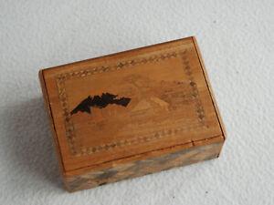 Vintage Inlaid Puzzle Box Japan Mount Fuji