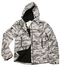 Superdry Men's Ice Camo Arctic Eite Windcheater Full Zip Hooded Jacket