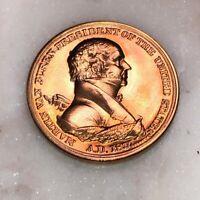 President MARTIN VAN BUREN Inaugural Bronze Medal Coin Token