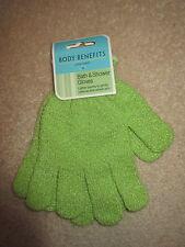 Body Benefits by Body Image - Bath & Shower Gloves - Green - NEW