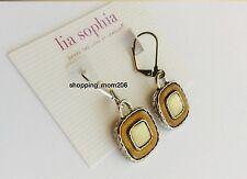 "Lia Sophia ""Caramello"" Genuine Mother-of-Pearl w/Caramel Resin Earrings"