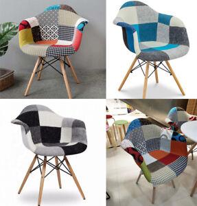 Patchwork chair Designer scandinavian chair modern nordic armchair