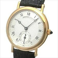 BREGUET Classic 18KYG Small Second Guilloche Dial Hand Winding Unisex Watch