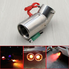 Stainless Steel Car SUV LED Exhaust Pipe Spitfire Red Light Flaming Muffler Tip