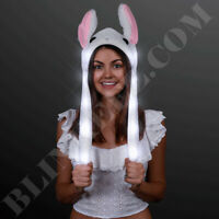 EASTER Plush LED Flapping Blinking Bunny Ears Cute Bunny Plush Hat Light Up Fun