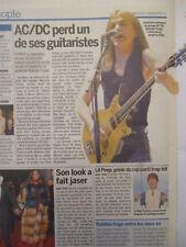 ARTICLE DECES DE : MALCOLM YOUNG guitariste et fondateur d'AC/DC - 20/11/2017 -
