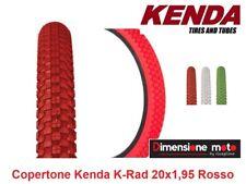 "Copertone ""KENDA"" 20x1,95 (50-406) K-RAD Rosso per Bici 20"" MTB Mountain Bike"