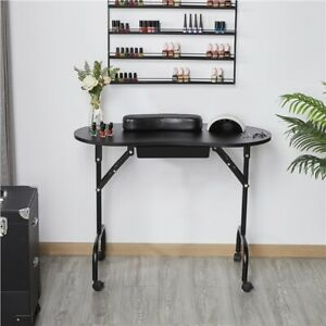 Portable Folding Manicure Nail Table Station Desk Spa Beauty Salon w/Carry Bag
