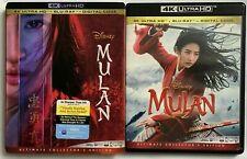 DISNEY MULAN LIVE ACTION 4K ULTRA HD BLU RAY 2 DISC SET + SLIPCOVER FREE SHIPPIN