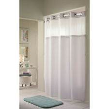 """Hookless Shower Curtains Double H White 71"""" x 77"""""""