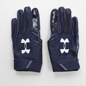 No Current Team Under Armour  Gloves - Receiver Men's Navy New with Tags