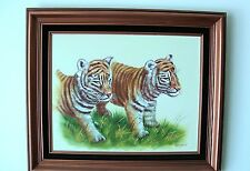 Original Hand Painted Artist Signed Oil Painting By Franklin (Framed)