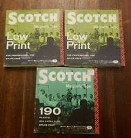 Lot of 3 Scotch 3M Reel To Reel Magnetic Tape Low Print & 190