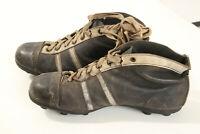 Scarpe calcio Epoca Vintage anni 30 40 antiche old leather football boots foto 2