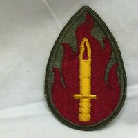 Vintage Military Army 63rd Infantry Division Patch Badge Deep Red Variant 63