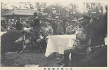 JAPAN :Japanese military officers seated around a table