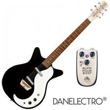 Danelectro The 'Stock 59 Reissue Electric Guitar Black & Billionaire Boost Pedal