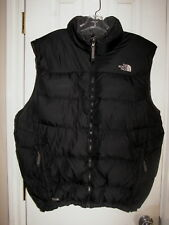 GREAT!! Mens THE NORTH FACE Black 550 Down Puffer Jacket VEST Sz. XXL