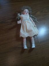 """Lovely About 13"""" Reproduction Antique Bisque doll Needs Restringing"""