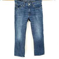 American Eagle 30x30 Original Straight Leg Blue Jeans Medium Wash Classic Work