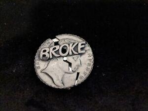 "Vintage Swank Money Clip ""Broke"""