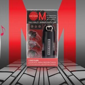 EarPeace Mortorcycle Motorbike EarPlugs High Fidelity Hearing Protection