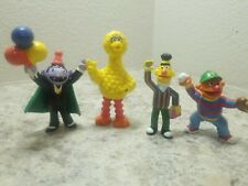 Vintage 90s Applause Muppets Sesame Street  Figure Lot x4 Burt Earnie Big Bird