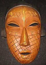 Hand-Carved African Mask-Wall Decor-Ghana AFRICAN TRIBAL ART AFRICAIN ARTE