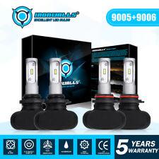 9005+9006 LED Headlight CSP Bulb Combo Hi-Lo Beam For Chevy Silverado 1500 99-06