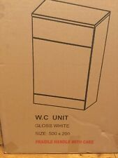 New Turin High Gloss White Back To Wall WC Unit 500/200/800 With Cistern