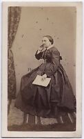 Foto Primitive Carte de visite Francia Europa Vintage Albumina Ca 1860