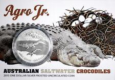 Australien 1 Dollar 2015 - Salzwasser-Krokodil Agro Junior (3.) - 1 Oz Silber