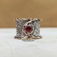Garnet Ring 925 Sterling Silver Ring Band Ring Statement Ring Handmade Ring A171