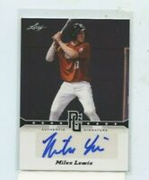 MILES LEWIS 2013 Leaf Perfect Game Showcase Auto Autograph #A-ML1