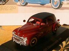 PEUGEOT 203 DECOUVRABLE 1954 NOREV 1/43 ROUGE & NOIRE HACHETTE BLACK ROOF RED