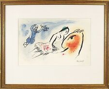 Marc Chagall (French Russian ,1887-1985 ) Original Color Lithograph Print